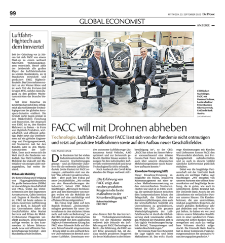Fa. FACC_Bank Austria_PRESSE