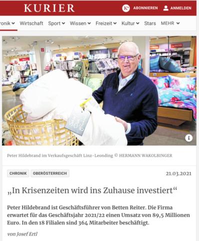 Kurier _ Betten Reiter _ GF Peter Hildebrand
