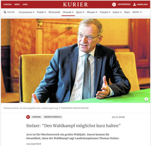 Kurier_LH Thomas Stelzer