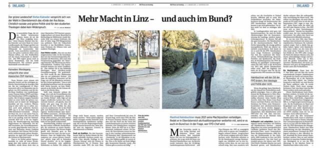 Presse am Sonntag _ Stefan Kaineder _ Manfred Haimbuchner