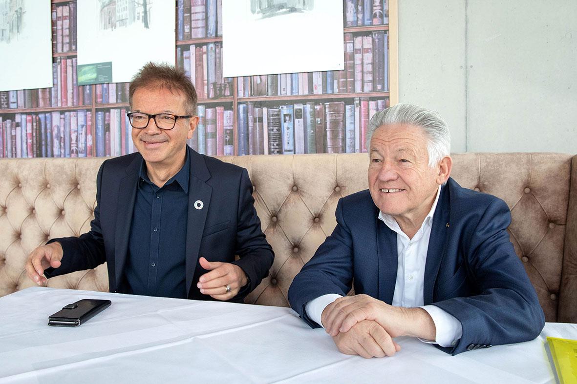 LH Dr. Josef Pühringer und LR Rudi Anschober