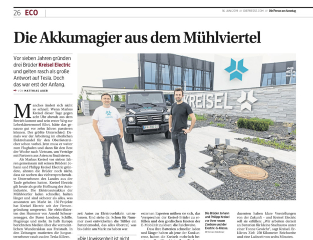 "Kreisel Electric_Clipping ""Die Presse am Sonntag"""