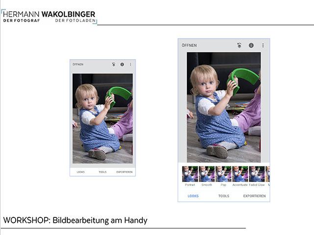 Bildbearbeitung am Handy