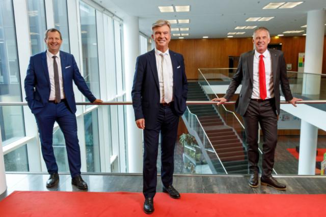 Vorstand Energie AG, Shooting Geschäftsbericht _ GD Steinecker _ VD Kolar _ VD Stallinger